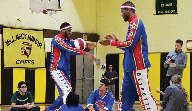 Harlem Globetrotters Surprise DEC Students