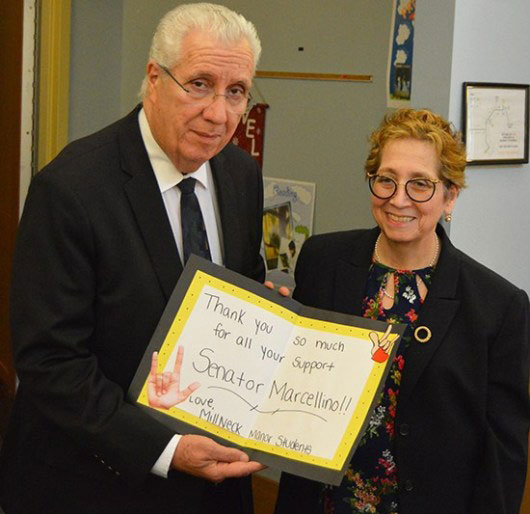 Senator Marcellino Visits Mill Neck Manor School for the Deaf