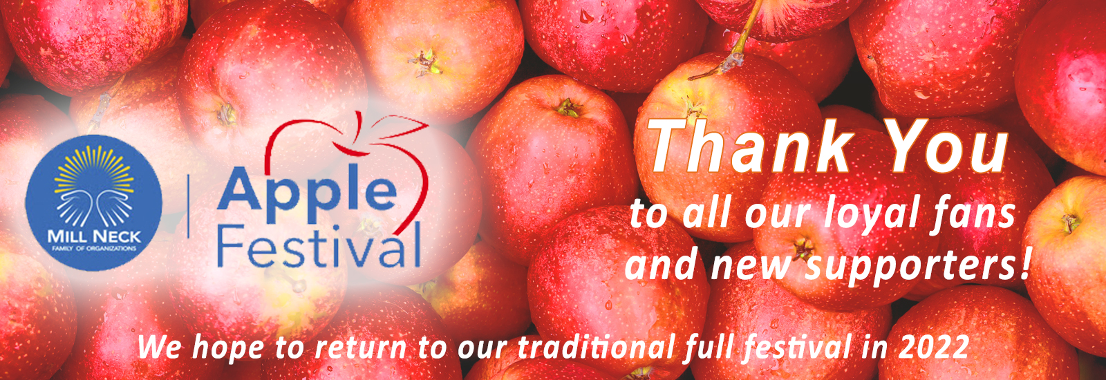 THANK YOU Apple Fest home banner