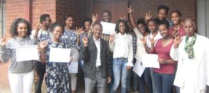20 ASL students from Ethiopian churches