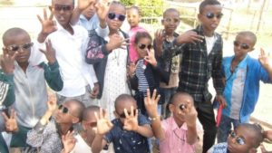 Deaf Students in Ethiopia with sun glasses