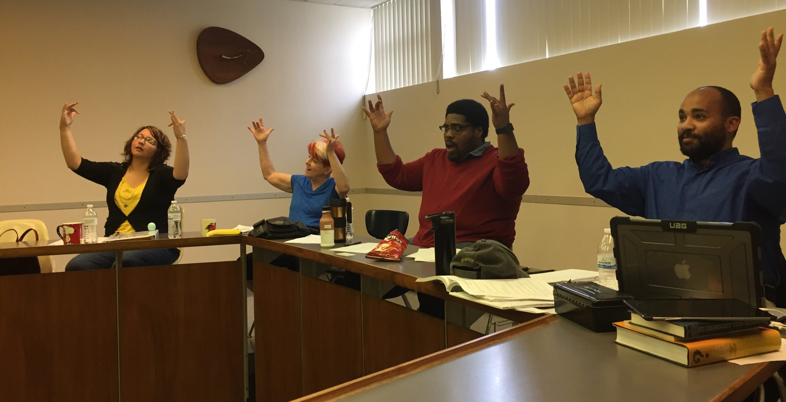 Students learn American Sign Language at the Church Interpreter Training